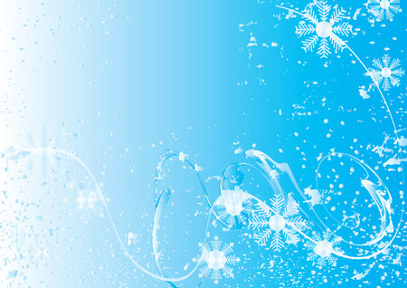 Snowflake foliage with place for your text, vector illustration Vector