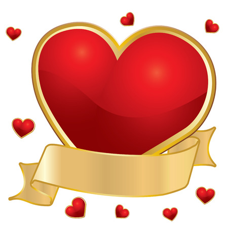 The Valentines day, vector illustration Vector