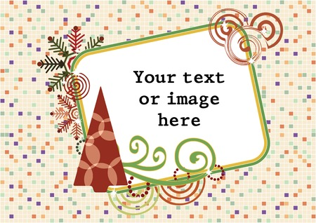 Merry Christmas and A Happy New Year frame, vector illustration Vector