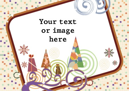 Merry Christmas and A Happy New Year frame, vector illustration Stock Vector - 3969049