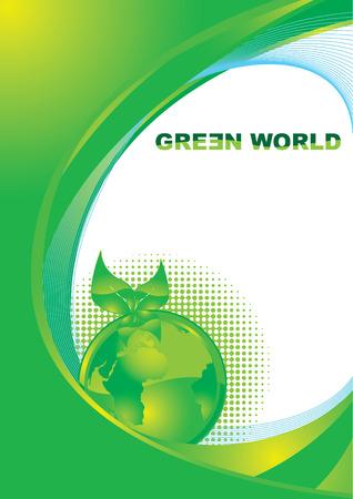 ozone friendly: Green world foliage vector illustration Illustration
