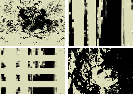 filth: four grunge texture backgrounds, vector illustration Illustration
