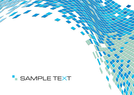 pixels: squares mosaic texture, vector illustration Illustration