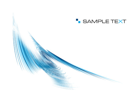 blue ripple background with copy space, vector illustration Illustration