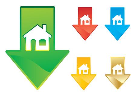 Housing market price drop concept vector illustration Stock Vector - 4145775