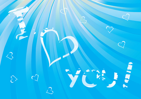 Cloudy I Love You message - Valentines Day vector illustration Vector