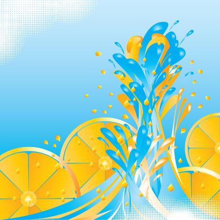 Orange splash with copy space - vector illustration Vector