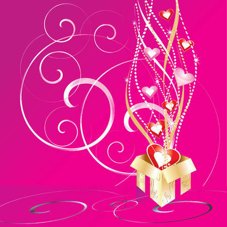 magic love gift, vector illustration Stock Vector - 4265312