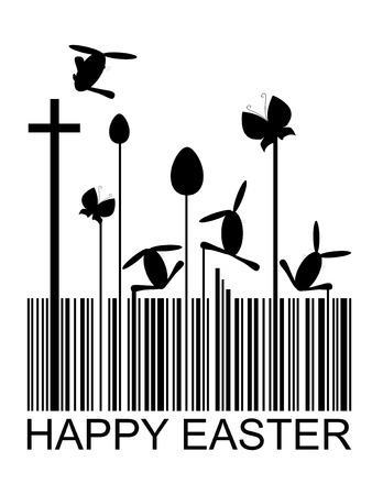 Easter bar code, vector illustration Vector