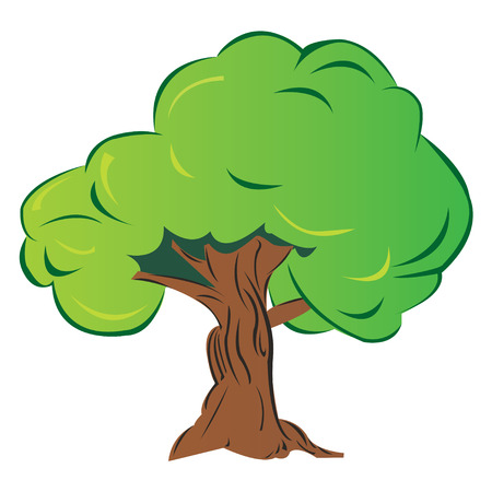 isolated cartoon tree, vector illustration Stock Vector - 4344075