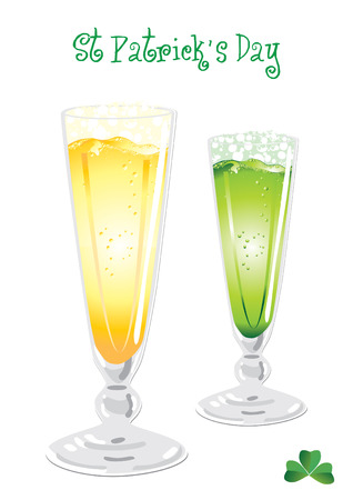 goodluck: Isolated green and light beer for Saint Patricks holiday, vector illustration