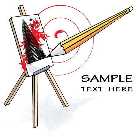 free hand art, vector illustration