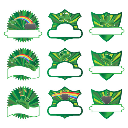 St Patricks labels collection, vector illustration Stock Vector - 4347234