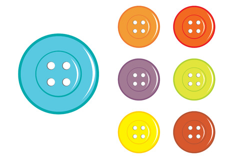 sewing button: Vector Sewing Button in various colors