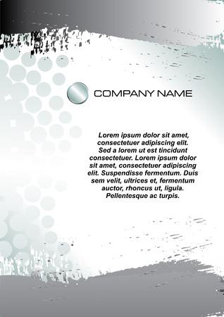 vector illustration of Business letterhead template Stock Vector - 4459105