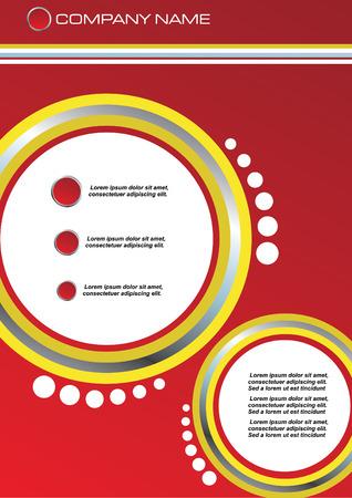 gradient mesh: vector illustration of Business letterhead template