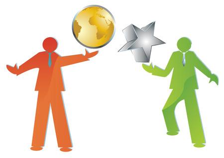 presencia: la presentaci�n de ideas de negocios, ilustraci�n vectorial
