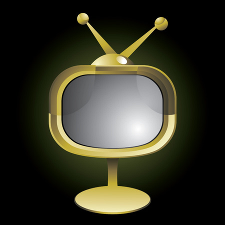 vector illustration of Stylized retro TV Vector