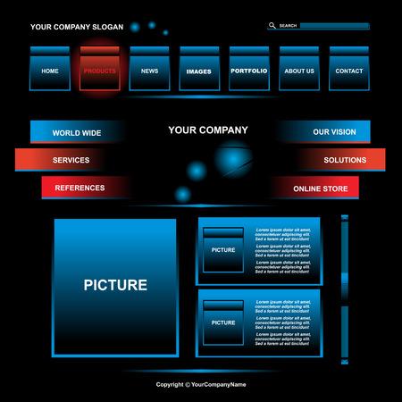 web site design: Modern Web site design template, vector Illustration