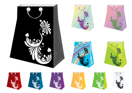 shoping bag: Colorful Shopping Bags in different colors
