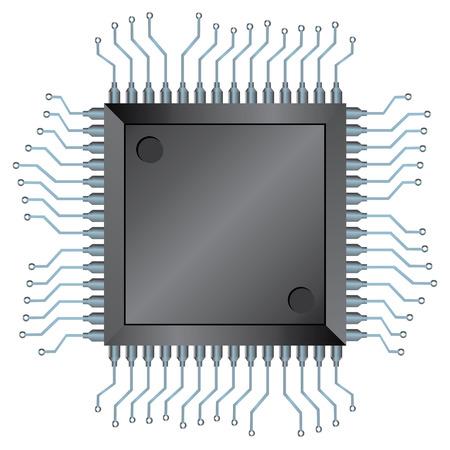 Electrónica de semiconductores integrados componente