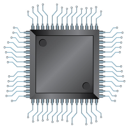 microprocessor: Electronic semiconductor integrated component