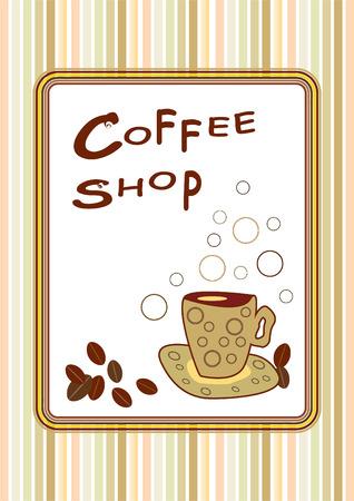 retro design of coffee shop poster Vector
