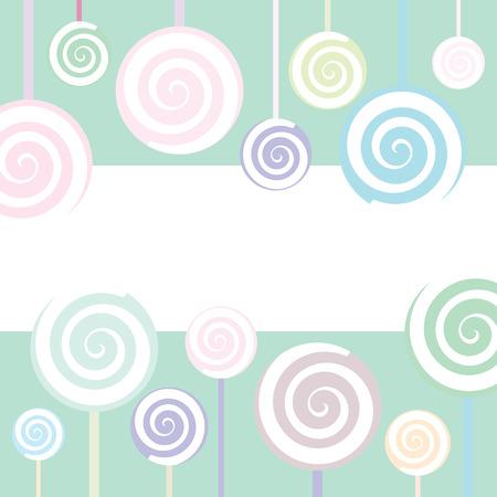 Trendy Lollipop Background in pastel colors Vector