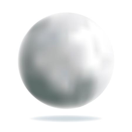 chrome base: Shiny Silver Ball maglia con effetto Illustrazione Vettoriale