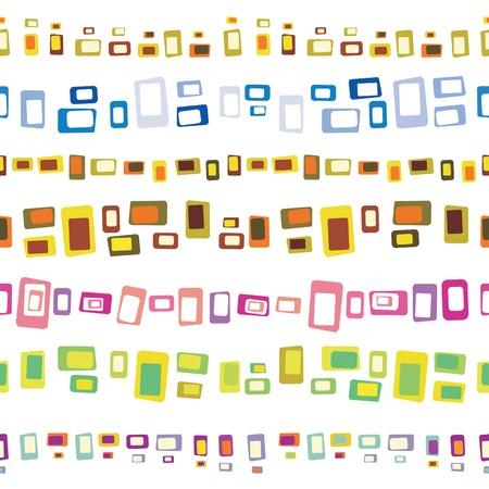 Set of Seamless retro border pattern elements