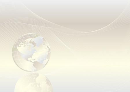 Crystal globe shiny background, vector Vector