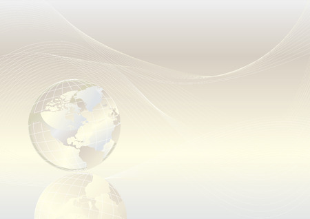Crystal globe shiny background, vector