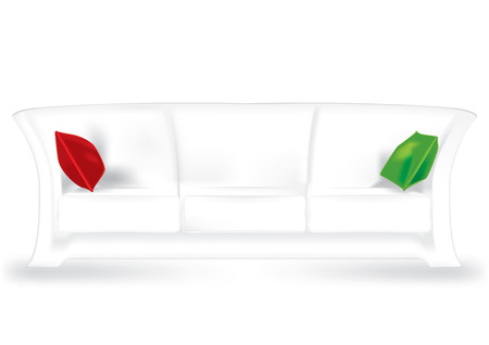 Modern sofa isolated on white background, vector Vector