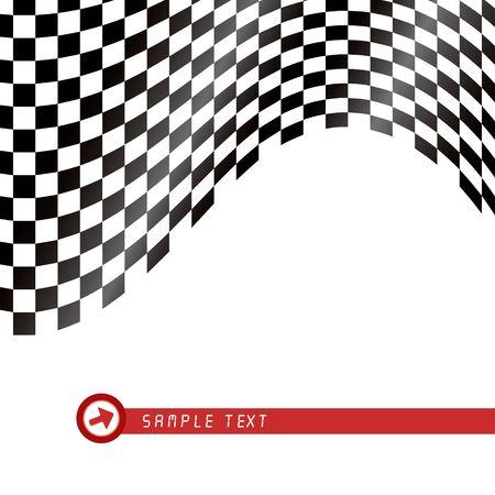 Checkered flag waving background, illustration Stock Illustration - 5132625