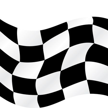 Checkered flag waving background, illustration Stock Illustration - 5132617