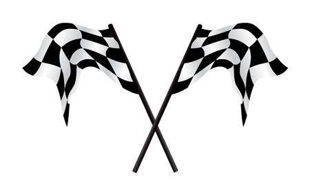 Checkered flags - racing simbol, illustration Stock Illustration - 5132613