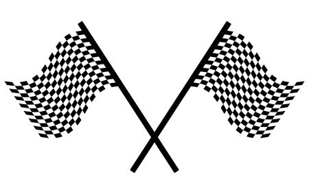 Checkered flags - racing simbol, illustration Stock Illustration - 5132622