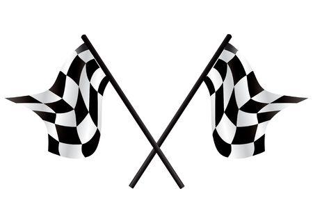 Checkered flags - racing simbol, illustration Stock Illustration - 5132614