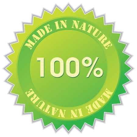 made in nature label, illustration Stock Illustration - 5249680