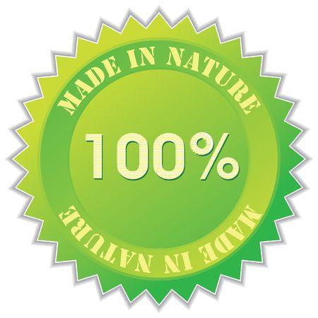 made in nature label, illustration Stock Illustration - 5249680