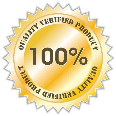 Quality verified product label, illustration Stock Illustration - 5249681