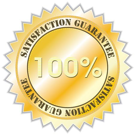 Satisfaction guarantee label, illustration Stock Illustration - 5249684
