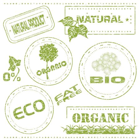 Set of grungy eco stamps, illustration Stock Illustration - 5310443