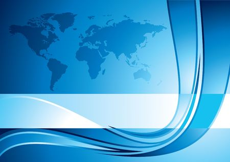 Business background with world map, illustration Stock Illustration - 5310426