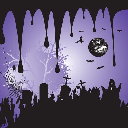 Halloween scary background, illustration illustration