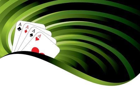 gambling background with casino elements, illustration Standard-Bild
