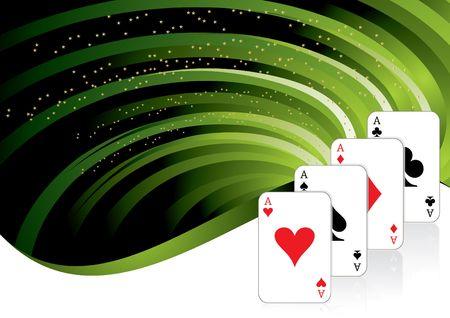 gambling background with casino elements, illustration illustration