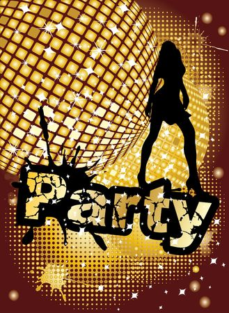 Party background, illustration illustration