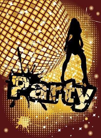 Party background, illustration