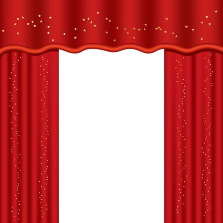 Theater curtains with copy space, illustration illustration
